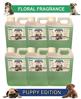 6 x 2L FRESH PET FLORAL Kennel Dog Disinfectant PUPPY EDITION