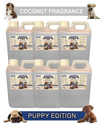 6 x 2L FRESH PET COCONUT Kennel Dog Disinfectant PUPPY EDITION