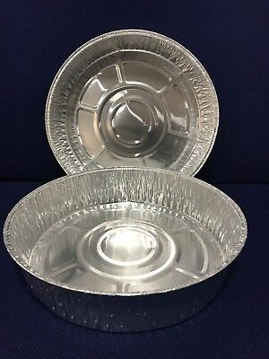 "*9"" Individual DEEP round foil flan dishes, Quiche, Pie,Cheesecake,Baking trays"