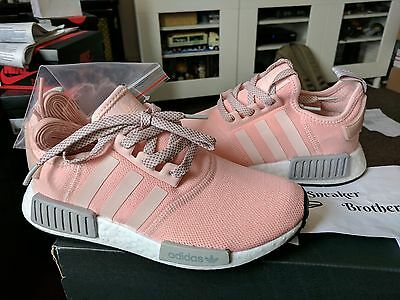 5a7e44a65 Adidas NMD R1 Runner W Nomad Women s Vapour Pink Aluminum Clear Onix Grey  BY3059