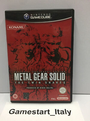 Metal Gear Solid The Twin Snakes (Nintendo Gamecube Gc) Pal Gioco Usato