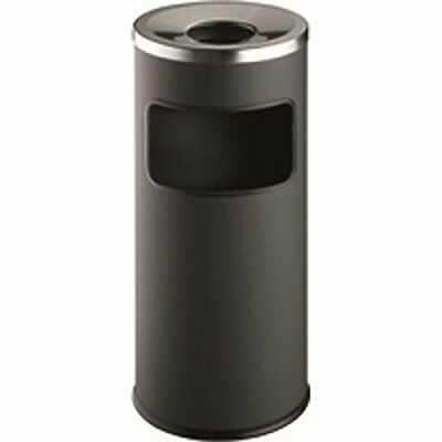 Durable Waste Bin Safe Round Ashtray Charcoal - 3332/58