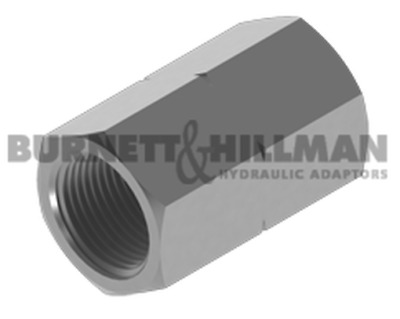 Burnett & Hillman Hydraulic NPTF Fixed Female x METRIC fixed Fem Adaptor 4-35