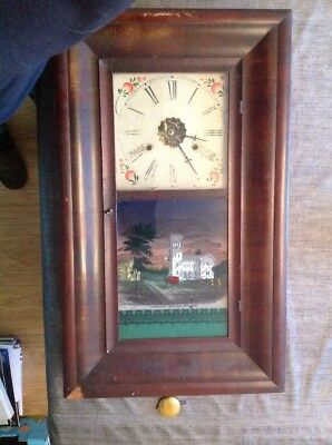 Antique American Jerome & Co thirty Hour Shelf Clock Chiming For Restoration