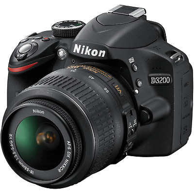 Nikon D3200 24.2MP Digital SLR Camera Kit w/ AF-S DX ED VR G 18-55mm - Black