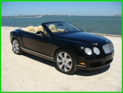 2007 Bentley Continental GT  2007 Bentley Continental GTC Convertible Black with Chrome