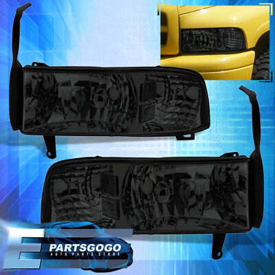 For 94-01 Dodge Ram Truck 1500 2500 3500 1Pc Smoked Lens Headlight Corner Lamps