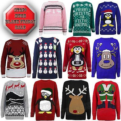 Discounted Christmas Jumper Day Men Womens Sale Gift Sweater Tops Xmas Knits