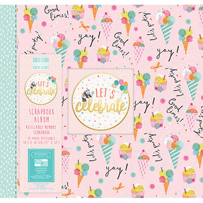 First Edition Scrapbooking Album Lets Celebrate good times 12 x 12 inch
