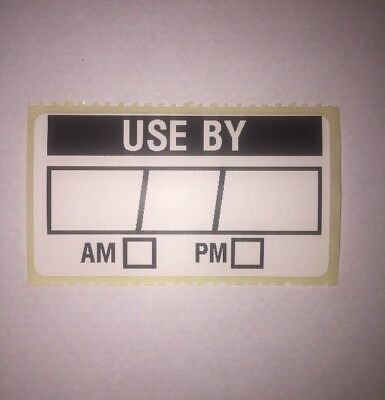 100 x Use By Food Storage Labels Use By Stickers Date Box AM PM