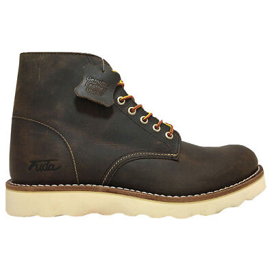 NEW Mens Fuda Genuine Leather Work Boots Brown - Choose Your Size!