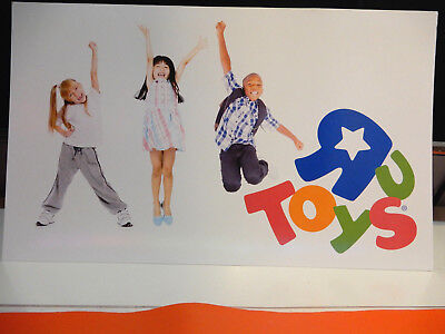 Toys R Us Store Display Sign RARE collectors item 2 sided cardboard