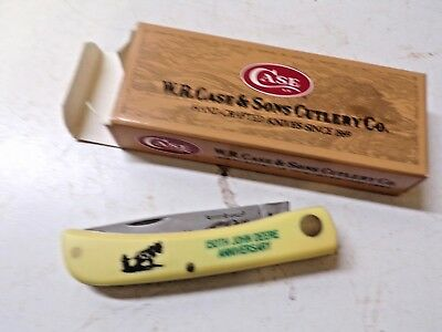 1987 Case Folding Knife 3137 for John Deere 150th Anniversary
