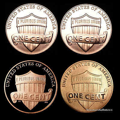 2017 P+D+S+S Lincoln Shield Proof Penny Set with the Mint Enhanced Cent