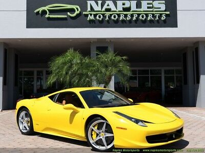 458  2010 Ferrari 458 Italia, Navigation, Back Up Camera, Power Daytona Seats