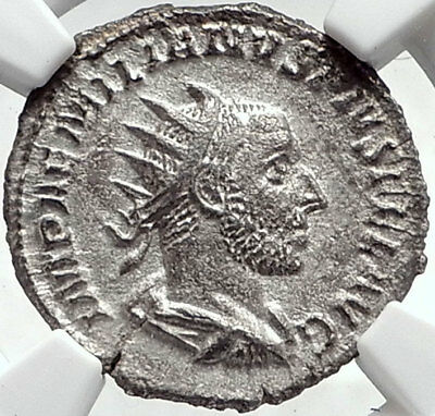 AEMILIAN Genuine 253AD Rome Authentic Ancient Silver Roman Coin SPES NGC i68710