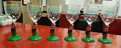 Captain Morgan's Rum Parrot Bay Plastic Drink Glasses Lot Of 6 - Free Shipping