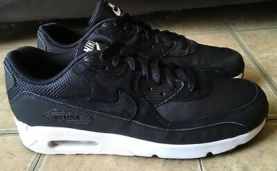 Nike Air Max 90 Ultra 2.0 LTR Leather Black Summit White 924447-001 Size 9.5