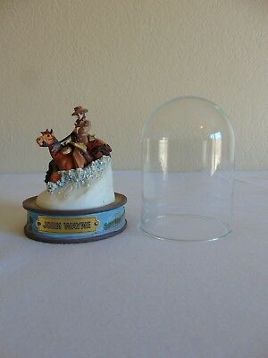 John Wayne Hand Painted Sculpture Horse Figurine With Dome by Franklin Mint