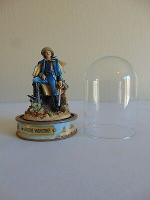 John Wayne Hand Painted Civil War Sculpture Figurine With Dome by Franklin Mint