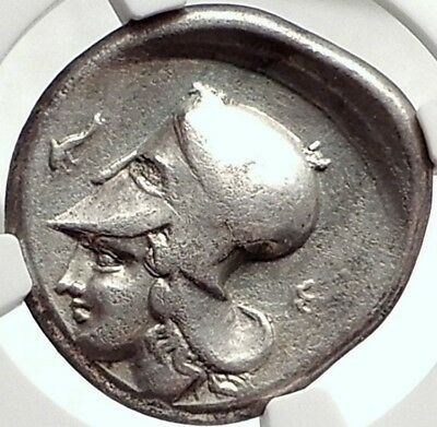 CORINTH 400BC Athena Pegasus Genuine Ancient Silver Greek Stater Coin NGC i68728