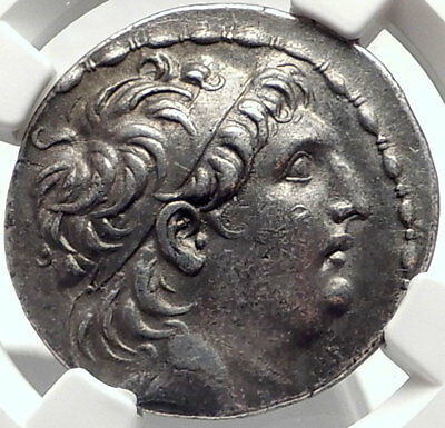 ANTIOCHOS VII Sidetes Seleukid Ancient Silver Greek TETRADRACHM Coin NGC i68736