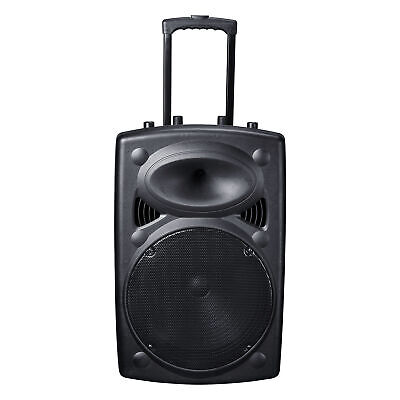 "Portable Remote Bluetooth Wireless Pa Speaker Mic AMP USB SD LCD FM 15"" Woofer"