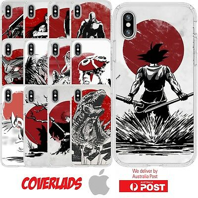 iPhone Silicone Cover Case Anime Movie Red Sun Art Manga Cartoon - Customlads