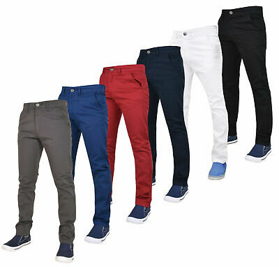 Enzo Mens Jeans Stretch Slim Fit Branded Chinos Denim Pants Trousers All Sizes