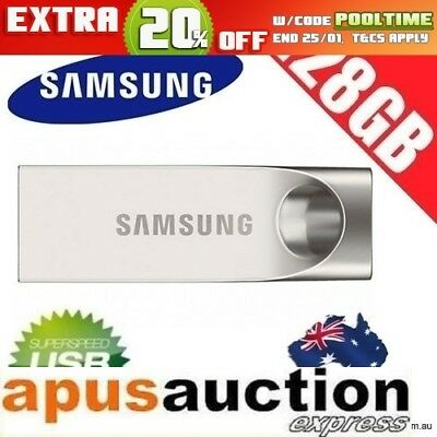 Samsung BAR 128GB MUF-128BA Metallic Flash Drive USB 3.0 Pendrive Thumb Memory
