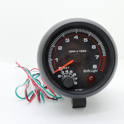1PCS 12V Universal Car 3.75'' LED RPM Tachometer Tacho Gauge Auto Meter Light AU