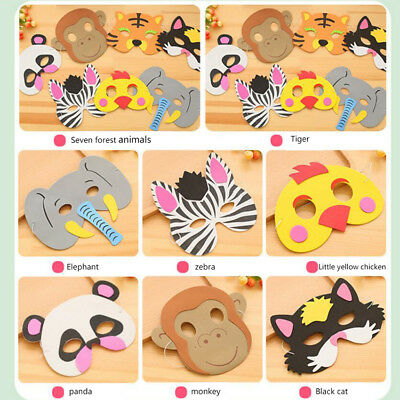 Best Gift For Children - Cute EVA Animal Pattern Masks Halloween Party Accessory