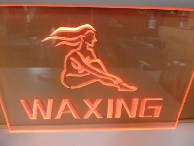 Waxing Perspex Glass LED Carved Sign