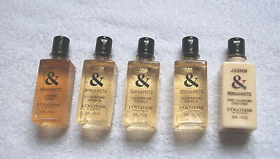 L'occitane Jasmine & Bergamote  Shampoo, Shower Gel X3 & Conditioner 50Ml   #358