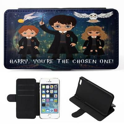 Personalised Harry Potter iPhone Phone Case Flip Cover Witch Wizard Gift ET07