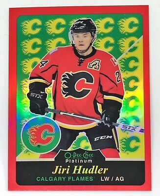 2015/16 15/16 OPC O-Pee-Chee Platinum Retro Red Parallel /15 Jiri Hudler Flames