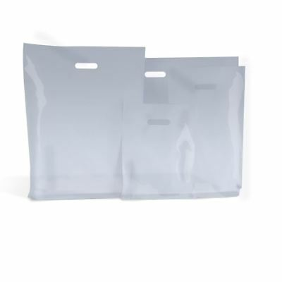 Clear Standard Plastic Carrier Bags Medium 9'' x 12'' Pack Of 100
