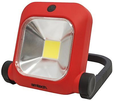 amtech S8185 10W COB LED Rechargeable Worklight - Red