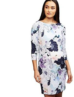 A PEA IN THE POD MATERNITY Floral Print 3/4 Sleeve Dress Sz XS