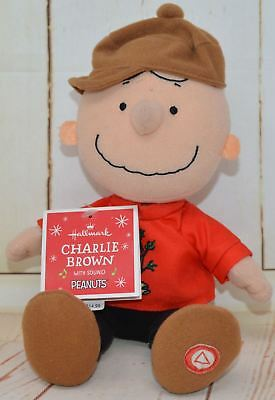 Hallmark Peanuts Christmas Plush Charlie Brown with Sound Talking NEW (10)