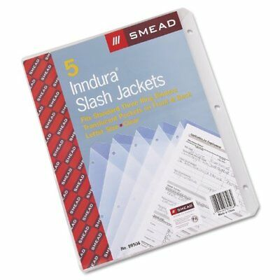 "Smead 89506 Clear Poly Translucent Slash Jackets - 9.25"" X 11.25"" - 3 X Holes -"