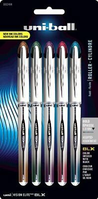 Uni-ball Vision Elite Blx Rollerball Pens - Bold Pen Point Type - 0.8 Mm Pen