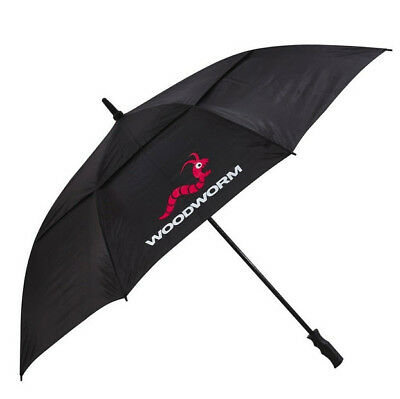"Woodworm 60"" Double Canopy Vented Windproof Golf Umbrella (Black)"