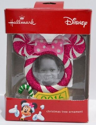 hallmark disney 2016 minnie mouse christmas tree ornament picture frame