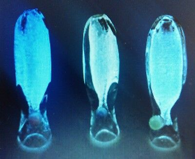 GLOW IN THE DARK Glass Chillum tobacco pipe (1 pc) $7.99 each * FAST SHIPPING *