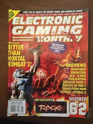 Vintage Electronic Gaming Monthly Magazine Issue September 1994