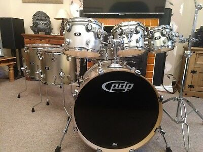 Dw Pdp X7 Drum Kit In Silver Champagne Sparkle 375 00 Picclick Uk