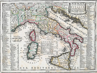 Chiquet Rare Map Italy - 1720