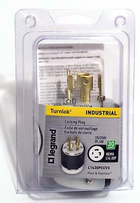 Pass Semour Locking Plug  NEMA L14-30P Plug 30A Outlet 3P, 4W 125/250V