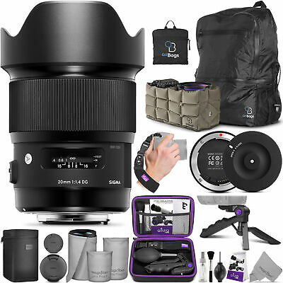 Sigma 20mm f/1.4 DG HSM Art Lens for Canon EF 412954 with Accessories Bundle